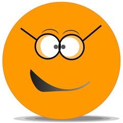 Smiley-Orange-Lunette