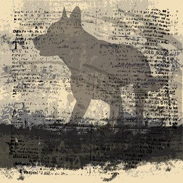 Wolf Grunge Background