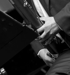 bassoonist on wind music chamber music