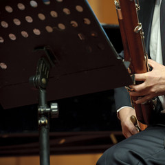 bassoonist on wind music chamber music