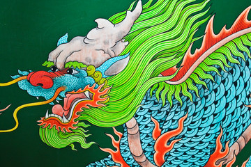 Mural Painting, Dragon.