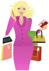 Girl to go shopping