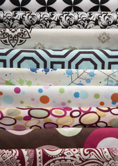 Large Stack of Multiple Patterned  Fabrics