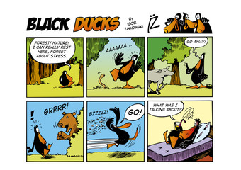 Foto op Aluminium Comics Black Ducks Comic Strip episode 58