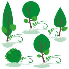 bäume - set, grüspir