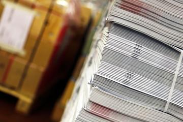 Zeitschriften bereit zum Versand