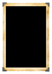 Vintage photographic deckle edged picture frame