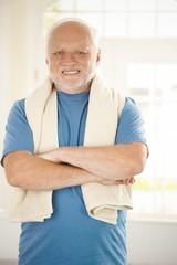 Portrait of active senior