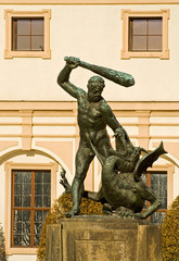 Statue at Wallenstein Palace