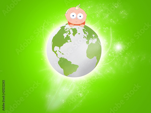 moving globe with baby on top stock photo and royalty free images