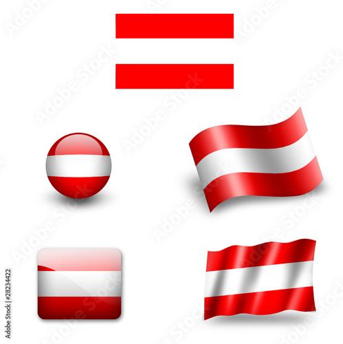 sterreich fahne flagge stockfotos und lizenzfreie bilder auf bild 28234422. Black Bedroom Furniture Sets. Home Design Ideas