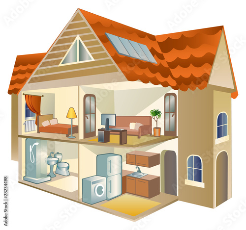 Quot House Cross Section Quot Stock Image And Royalty Free Vector