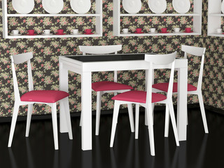 Interior design of vintage dining room