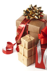 heap of present boxes