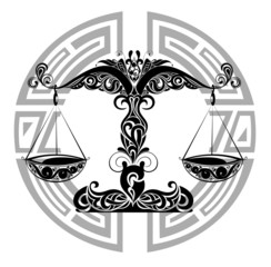 Zodiac signs - Libra.Tattoo design