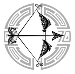 Zodiac Wheel with sign of Sagittarius
