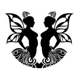 Zodiac signs gemini. Tattoo design