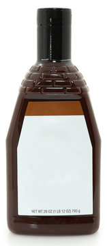 Blank Label 28oz Bottle BBQ Barbecue Sauce
