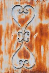 ornamental pattern of metal