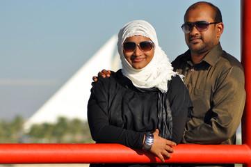 Portrait of a happy Indian couple