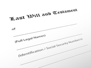 """Last Will and Testament"" (legal document lawyer justice law)"