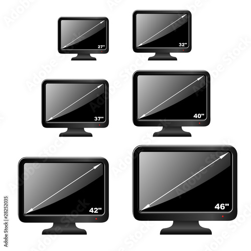 3d iconset lcd fernseher gr en stockfotos und. Black Bedroom Furniture Sets. Home Design Ideas