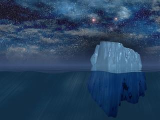 High Resolution Iceberg at night