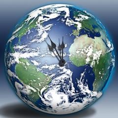 High Resolution Earth Clock