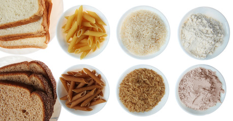 Whole Wheat and Brown vs. White Bread, Pasta, Rice and Flour