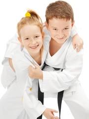 Karate boy and girl