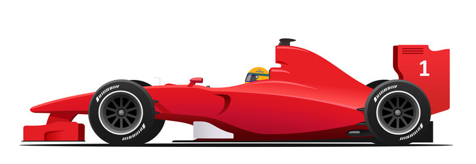 Acrylic Prints F1 Formula race red detailed car
