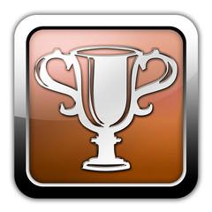 "Bronze Glossy Square Icon ""Award Cup"""