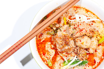 Thai noodle soup.