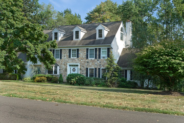 Tradition Center Hall Colonial Single Family Home Suburban USA
