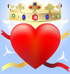 heart in the crown