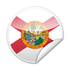 Pegatina bandera Florida con reborde