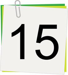 Calendario, Giorno 15