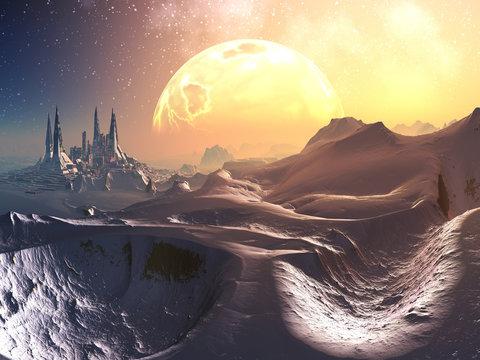 Approach to Celestia Prime Future City