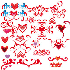 Set with hearts1