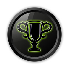 "Black Icon (Green Outlines) ""Award Cup"""