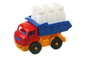 Plastic container in the truck
