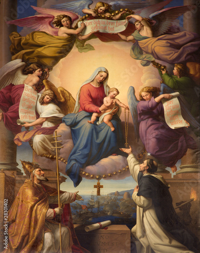 Wall mural holy Mary and little Jesus from Vienna church