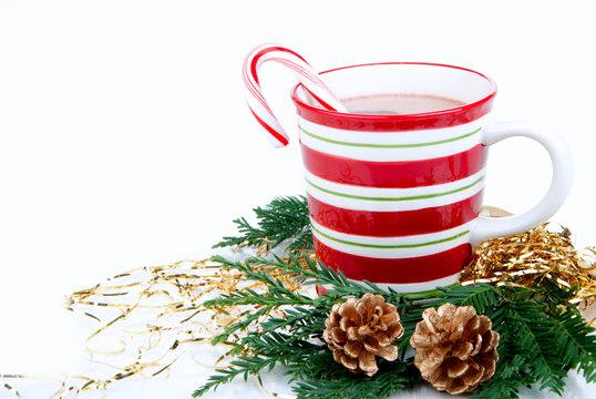 Christmas hot chocolate beverage