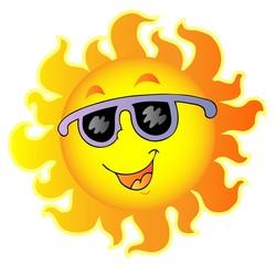 Happy Sun with sunglasses
