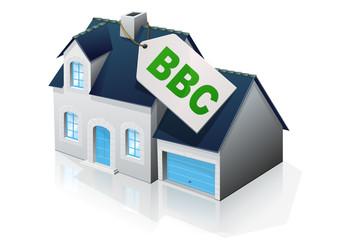 Pavillon à la norme BBC (reflet)
