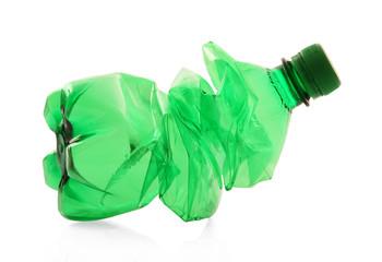 Wall Mural - bottiglia di plastica verde schiacciata