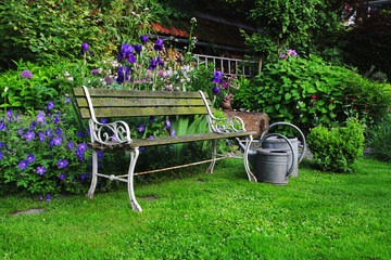 Historic Garden Bench, germany