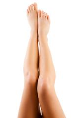 Beautiful legs isolated on white background