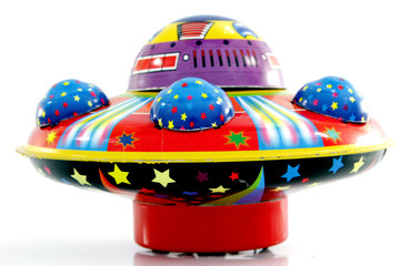 Garden Poster UFO tin ufo toy