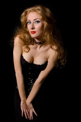 Beautiful fashion woman vamp style